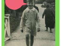 Feliks Dzierżanowski junior namostku wparku wNałęczowie. Lipiec 1936 rok.