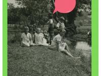 Dzieci milanowskie nadrzeką wNałęczowie. Lipiec 1936.