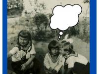 Halina, Feliks, Jadwiga Dzierżanowscy wogrodzie. Rok 1933.