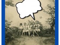 Imieniny Feliksa Dzierżanowskiego; Odlewej: Feliks jr Dzierżanowski, Jadwiga Dzierżanowska, Halina Dzierżanowska, nn, Halina Wojciechowska. 30 maja 1935.