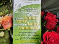 Ulotka sponsora Cukiernia Pacześni.